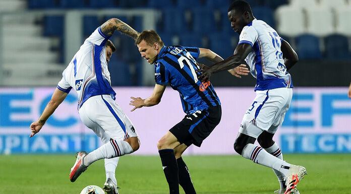 Atalanta Sampdoria 0 0 LIVE: poche emozioni, tante interruzi