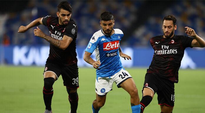 Il Napoli e il Milan danno spettacolo e si dividono la posta
