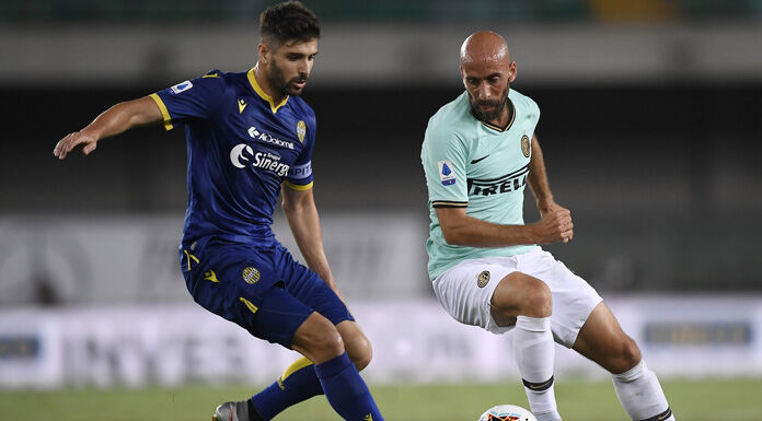 Verona Inter 1 2 LIVE: Candreva raddoppia