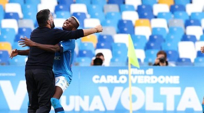 Napoli, Osimhen torna in campo: «Uniti nella vittoria e nella sconfitta» – FOTO