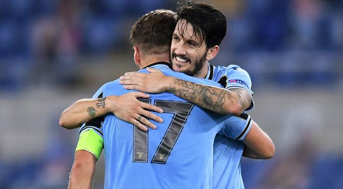 Lazio – Bologna, i biancocelesti festeggiano all'Olimpico