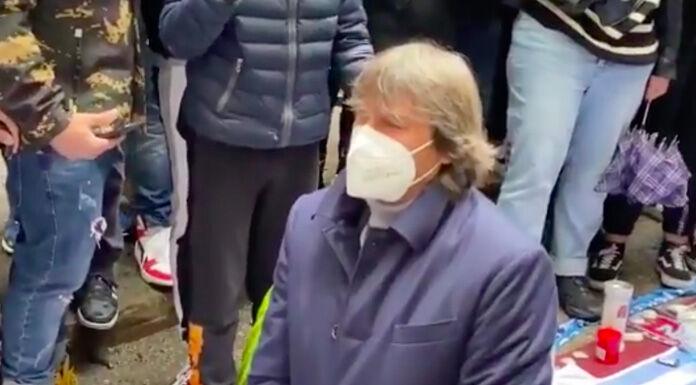 Napoli, Bruno Conti e la Roma omaggiano Maradona – VIDEO