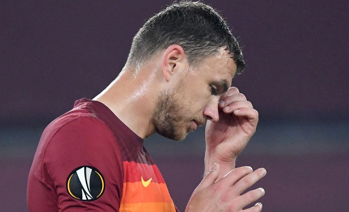 dzeko roma europa league