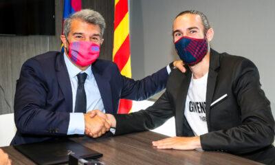 Oscar Mingueza. Twitter Barcelona