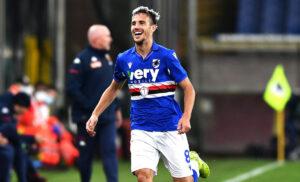 Sampdoria Spezia 1 1 LIVE: tiro di potenza di Ferrer, respinge Audero