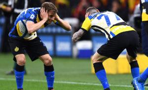 Inter Roma 2 1 diretta: Conte sostituisce Lautaro e l