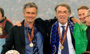 Mourinho Moratti JL22298 1 300x182 - Moratti: «Felice per Mourinho. Messi al PSG un grande dispiacere per tutti»