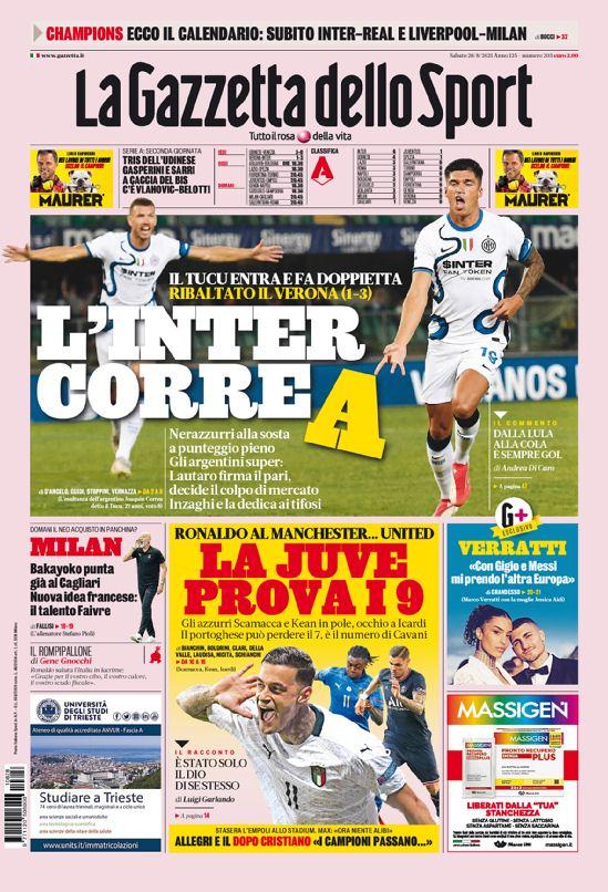 E92mnHYXIAEjzxL - Le prime pagine dei quotidiani sportivi di oggi – 28 agosto