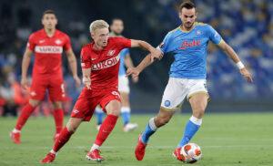 Ruiz Litvinov CPur010 300x182 - Napoli Spartak Mosca 2-3: gli azzurri partono bene, poi Mario Rui rovina tutto