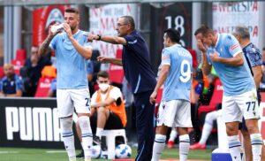 Sarri  DX30603 1 300x182 - Milan Lazio 2-0 LIVE: Sarri si gioca le carte Moro e Muriqi