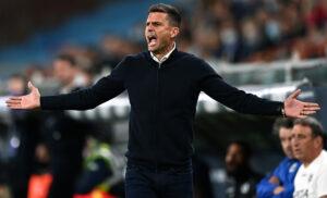 Spezia, Thiago Motta: «Rammarico per il pareggio ma c'è fiducia»