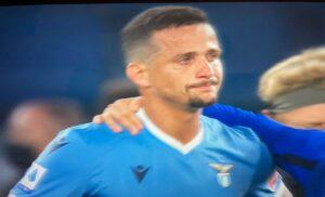 Lazio Inter, Luiz Felipe in lacrime nel finale per una dubbia espulsione