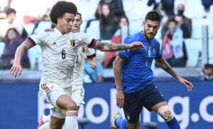 Witsel Di Lorenzo Italia Belgio 300x182 - Italia Belgio, 5 milioni di telespettatori per la finalina di Nations League